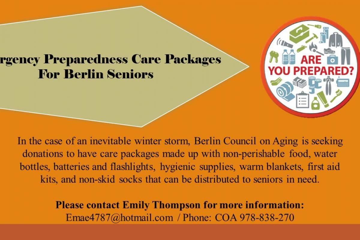 Berlin Emergency Preparedness Packages
