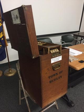 File photo of a Berlin voting ballot box