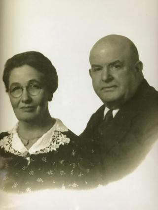 Mable Felton Marble and husband, Ralph Perkins Marble of Berlin.